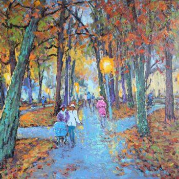 Františkovy Lázně na podzim - Vladimir Domničev - acrylic painting
