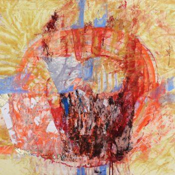 Helovín - Ladislav Hodný - combined painting