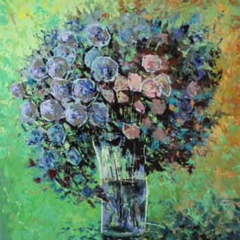 Kytice ve skleněné váze - Vladimir Domničev - acrylic painting