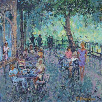 Na terrase - Vladimir Domničev - acrylic painting