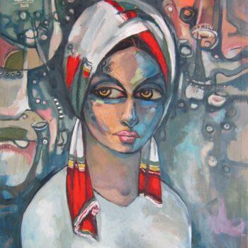 Portrait 2 - Solomon Teshome Jenbere - acrylic painting
