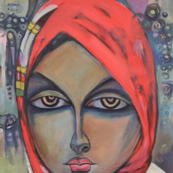 Portrait 3 - Solomon Teshome Jenbere - acrylic painting