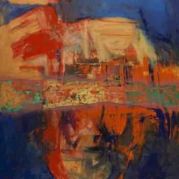 Soho - Ladislav Hodný - combined painting