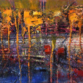 Abstrakt - Mykola Bodnar - oil painting
