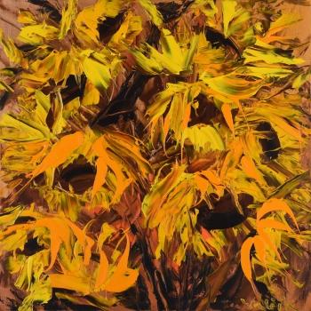 Abstraktní slunečnice - Josef Valčík - acrylic painting