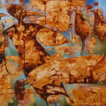 Levitácia - Norbert Judt - combined painting