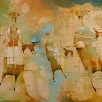 Pastieri - Norbert Judt - combined painting
