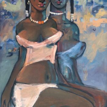 Friends 7 - Solomon Teshome Jenbere - acrylic painting