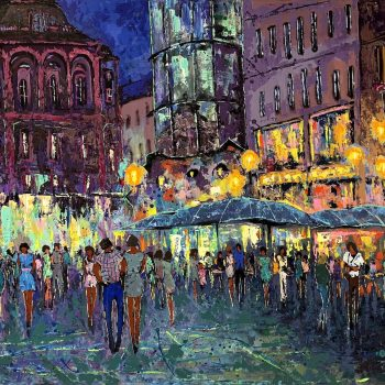 Stephansplatz Wien Österreich - Vladimir Domničev - acrylic painting
