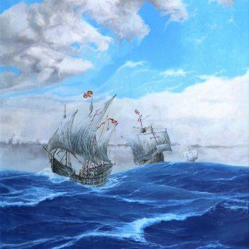 1492 / II. Lodě Kryštofa Kolumba - Václav K. Killer - oil painting